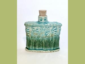 Slab Built Dragonfly Flask or Bud Vase
