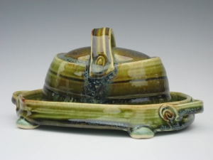 Thrown and Altered Butter Dish