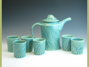 Sea Life Motiff Tea Set