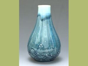 Ice Blue Web Vase