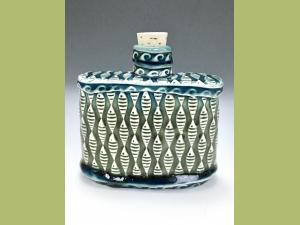 Slab Built Fish Flask or Bud Vase