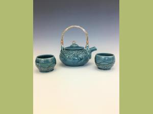 Blue Slip Tea Set